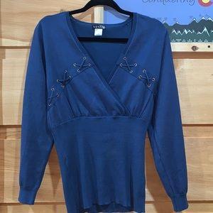 Looks new! Venus large blue sweater